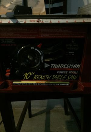 "Trademans power tools 10"" bench table saw for Sale in Detroit, MI"