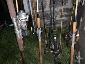 Fishing rods and reels today only $5 for Sale in Foxcroft Square, PA