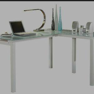 61 ' L Shape Desk/white Brand New Desk In Box for Sale in Pompano Beach, FL