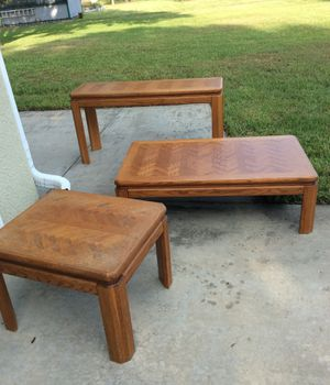 Set of 3 tables for Sale in Pembroke Pines, FL