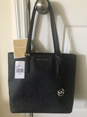 Michael Kors Morgan MD Tote Black Coated Canvas Shoulder Bag for Sale in Dunwoody, GA