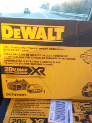 Dewalt 1/2 impact torque wrench kit for Sale in Nashville, TN