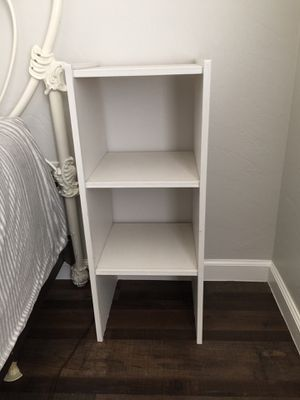 Small white side shelf for Sale in Cave Creek, AZ