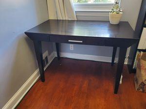 Solid wood black desk for Sale in Washington, DC