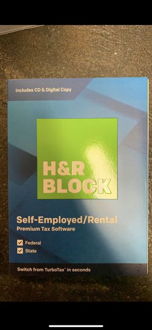 H&R BLOCK Self-Employed/Rental Tax Software Premium 2019 PC/MAC DISK for Sale in Tacoma, WA