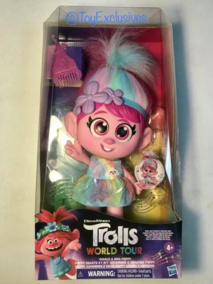 NEW Trolls World Tour GIGGLE & SING POPPY Singing Talking Hasbro Doll Discontinued Banned IN HAND! for Sale in Chula Vista, CA