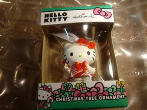 Diecast hello kitty Hallmark - Christmas tree ornament - bow - cartoon. - video - movies - kids - hero for Sale in Naples, FL