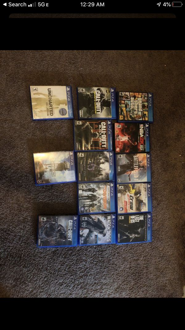 Ps4 Games $10-$15 Each