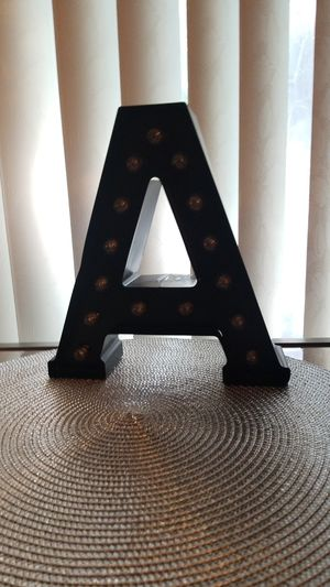 Letter A table top stand or wall art. for Sale in Laurel, MD