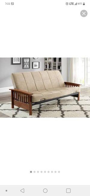 Wooden metal bed frame for Sale in Zephyrhills, FL