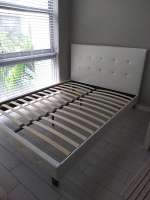 NEW QUEEN SIZE BED FRAME MATTRESS SOLD SEPERATELY AVAILABLE FOR DELIVERY for Sale in Doral, FL