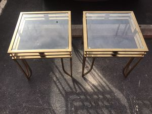 Chrome color side tables for Sale in Takoma Park, MD