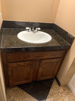 Bathroom vanity with sink and faucet for Sale in Federal Way, WA