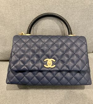 Authentic Chanel Flap Bag With Top Handle for Sale in Dana Point, CA