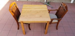 Solid Wood Dining Table with Leaf and 2 Chairs, Price Firm for Sale in Westminster, CA