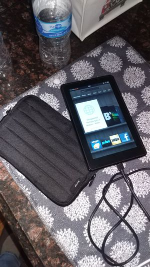 First generation kindle fire with charger and case for Sale in Mineola, NY
