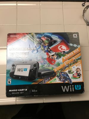 Nintendo Wii U Console 32GB Mario Kart 8 Deluxe Set Game for Sale in Sacramento, CA