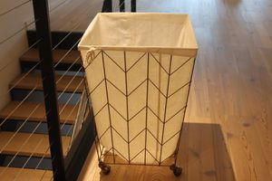 Decorative Rolling Laundry Hamper (Gold) for Sale in New York, NY