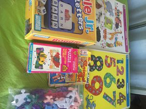 Toys for education kids :puzzle, Animal train & act , Numbers $ 5/1 Games for Sale in Bloomington, CA