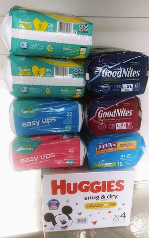 Random sizes of diapers, easy ups & pull ups for Sale in Leesburg, FL