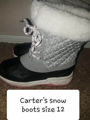 CARTERS KIDS SZ 12 SNOW BOOTS for Sale in Surprise, AZ