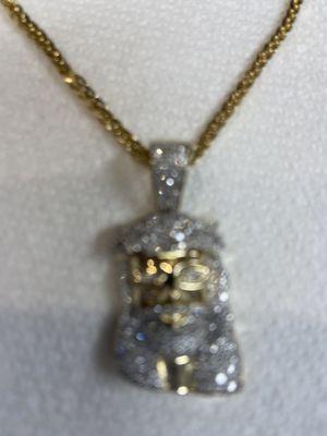 10k chain with 1 carat vs diamond pendant for Sale in Chicago, IL
