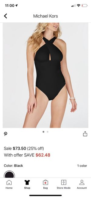 Michael Kors solid convertible swimsuit for Sale in Beaumont, CA