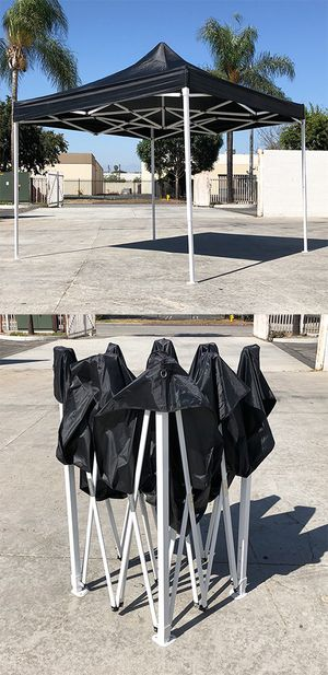 New $100 Black 10x10 Ft Outdoor Ez Pop Up Wedding Party Tent Patio Canopy Sunshade Shelter w/ Bag for Sale in Whittier, CA