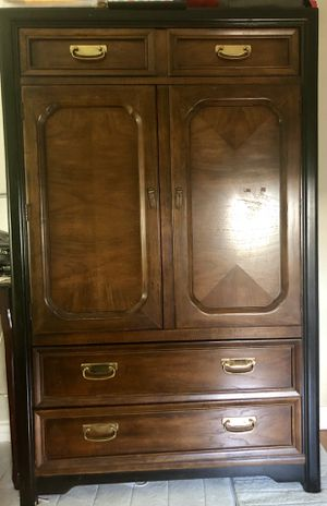 Antique Armoire/ Dresser real solid oak wood. for Sale in San Diego, CA
