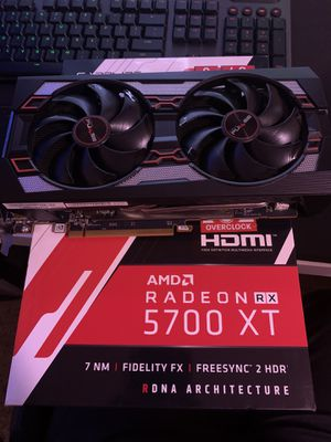 Radeon 5700XT Graphics Card 8GB Sapphire Pulse for Sale in Rancho Cordova, CA