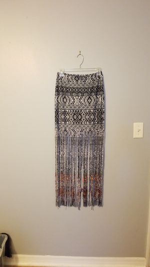VENUS mini skirt with maxi fringe M for Sale in Tampa, FL