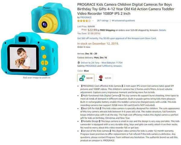 Kids Camera Children Digital Cameras