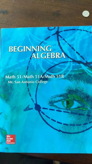 Beginning Algebra Mt. Sac edition for Math 51/51A/51B for Sale in Upland, CA