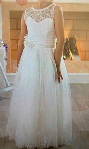 Ivory flower girl dress size 12. for Sale in Kingsburg, CA
