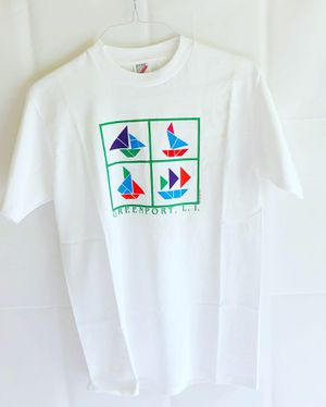 '95 Single Stitch Color Wave Digital Sailboats Laughing Hippos T-shirt Medium for Sale in Cockeysville, MD