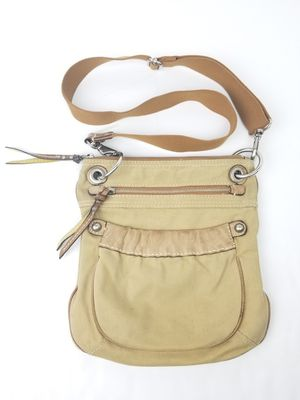 Fossil retro leather and canvas crossbody shoulder bag! for Sale in Seattle, WA