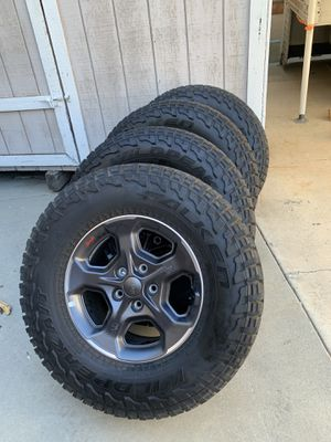 Jeep gladiator rubicon wheels and tires. for Sale in Etiwanda, CA