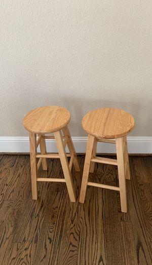 Wood backless stools for Sale in Houston, TX