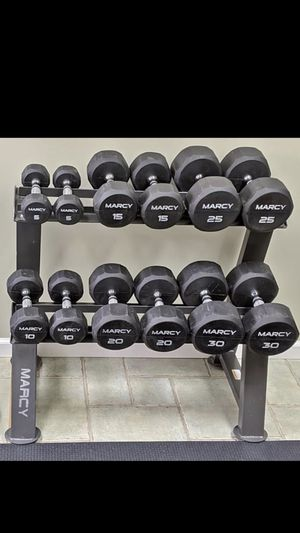 Dumbbells + rack for Sale in Affton, MO