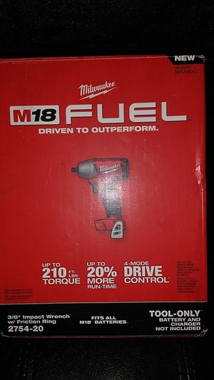 Milwaukee m18 fuel 3/8 impact wrench for Sale in Tucker, GA