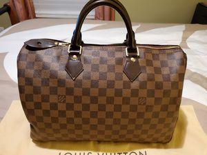 Authentic Louis Vuitton - Speedy Damier Ebene 35 for Sale in Ann Arbor, MI