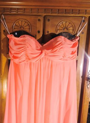 Brides maids dress peach plus size or you. Use it for the prom for Sale in Modesto, CA