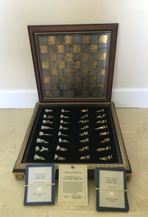Civil War chess set for Sale in FL, US