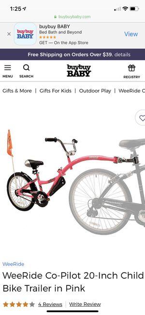 Bike trailer co pilot pink for Sale in Orlando, FL
