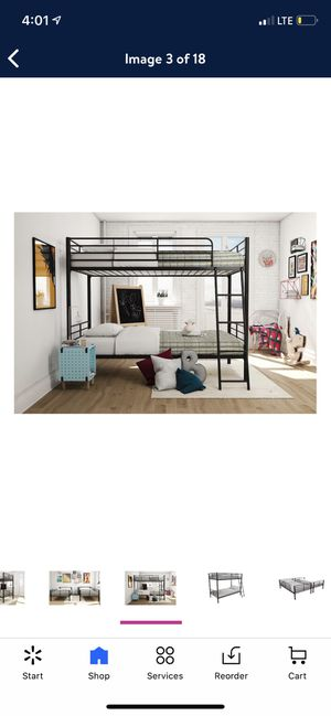 Mainstays twin over twin convertible bunk bed, black for Sale in Las Vegas, NV