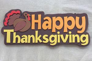 """Happy Thanksgiving"" foam decoration for Sale in Virginia Beach, VA"