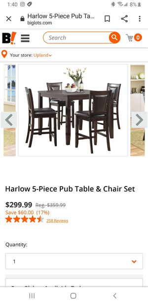 5 piece table set for Sale in Upland, CA