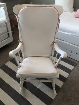Nursery Wood Chair, white for Sale in Delray Beach, FL