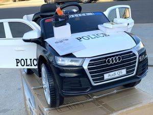 BRAND NEW Audi Q5 Police SUV 12VOLT REMOTE CONTROL MODEL electric kid ride on car power wheels for Sale in Anaheim, CA