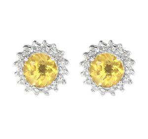 14K White Gold Diamond & Citrine Earrings for Sale in Buena Park, CA